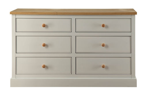 St Ives 6 drawer wide chest